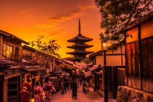 京都 八坂の塔 夕景 アイキャッチ画像