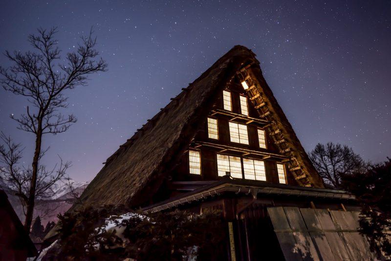 白川郷 夜景 星空 アイキャッチ画像