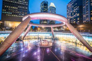 シンガポール 富の噴水 Fountain of Wealth アイキャッチ画像