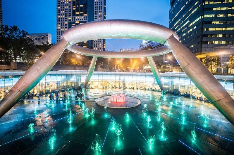 シンガポール 富の噴水 アイキャッチ画像