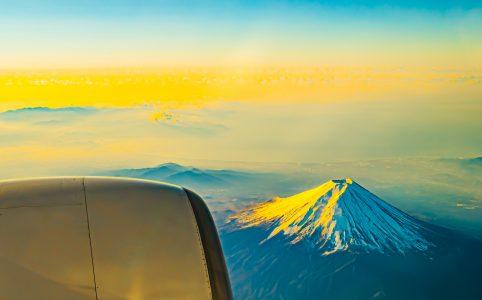 ANA 機窓 富士山 アイキャッチ画像